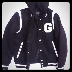 Guess varsity jacket SIZE MEDIUM
